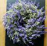 Dichter Lavendel 27cm Kranz Tischkranz Türkranz Rebe Plastikblumen Lila Flieder