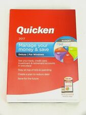 QUICKEN 2017 Manage Your Money & Save DELUXE for Windows. NEW