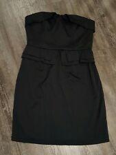 Wayne Cooper Strapless Black Dress Size 10