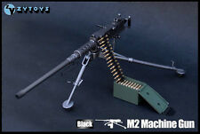 "1/6 ZYTOY Scale US ARMY M2 Machine Gun Black Color Fit for 12"" Action Figure"