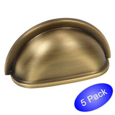 *5 Pack* Cosmas Cabinet Hardware Brushed Antique Brass Cup Handle Pull #4310BAB