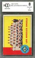 Los Angeles Angels Tc Team Card 1963 Topps #39 BGS BCCG 8