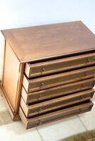 5 Drawer Table top Chest of Drawers large walnut Jewelry organizer oak drawers