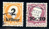 Island MiNr. 119-20 gestempelt (Z530