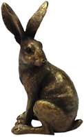 Reflections By Leonardo Bronzed Sitting Hare