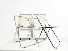 4 Plia Klappstühle Design Giancarlo Piretti für Anonima Castelli