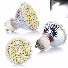 6X GU10 3528 SMD 60 LED Lámpara Bombilla Luz Blanco Bajo Consumo 220V 6500K