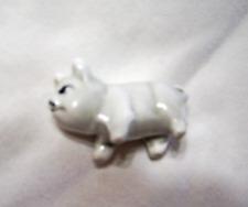 White Ceramic Miniature Pig Figurine