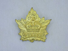 Original WWII Canadian Army General List Maple Leaf Cap Badge