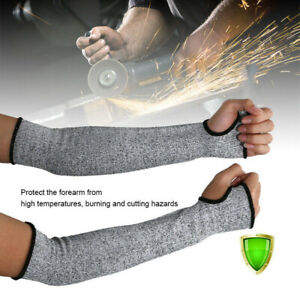 1 Pair Safety Protective Arm Sleeve Guard Cut Proof Anti Cut-Resistant Gloves QN