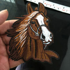 Horse Head Equestrian Iron on Patches Applique Embroidered Sewing Supply