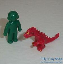 Playmobil  Dolls house - Toy Green Doll & Red Dragon for child figures - NEW