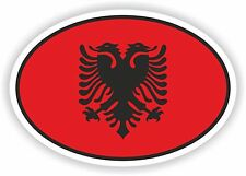 Albania Flag oval STICKER bumper decal car helmet laptop