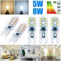 5 /10 pcs G9 5W 8W LED Dimmable Capsule Bulb Replace Light Lamps AC220-240V UK