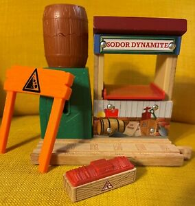 Thomas & Friends Wooden Railway Sodor Dynamite Blast Container Barrel Pops