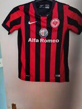 Eintracht year 2013 alfa roeo football shirt size kids10-12 as a signituregood