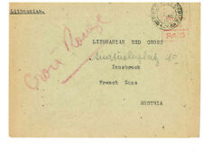1946 to Austria Displaced Person Camp Mail Cover Lithuanian Red Cross Stampless