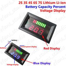 2S 3S 4S 6S 7S 18650 Lithium Li-ion Battery Capacity Level Indicator Voltmeter