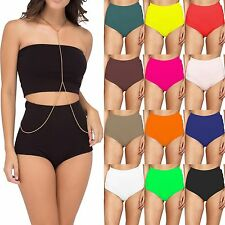 New Ladies Womens High Wasted Midi Briefs Pants Knickers Underwear Size 6-14