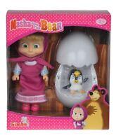 Simba 109301003 - Masha Und Der Bär - Masha Pinguin Im Ei - Neu
