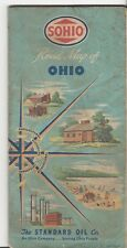 1950's SOHIO ROAD MAP OF OHIO STANDARD OIL CO. HISTORICAL RECREATION INDUSTRIAL