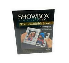 "Showbox Photo Viewer Holds 40 Photos Remarkable 3 in 1 For 3 1/2"" x 5"" Photos"