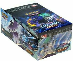 Pokemon Cards SWSH Chilling Reign Build and Battle Box Sealed Case Display