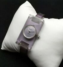RARE 1970's 70's 70s Vintage Gucci Lucite Watch Bakelite Resin Plexiglass Bangle