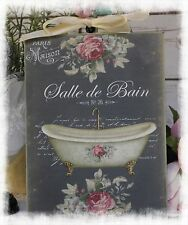 "Vintage ""SALLE DE BAIN"" ~ Shabby Chic ~ Country Cottage style ~ Wall Decor Sign"