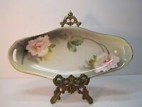 Vintage RS Germany Porcelain Floral Nut Candy Dish