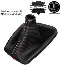 BLACK STITCH CARBON FIBRE LOOK GEAR GAITER FITS BMW E90 E91 E92 E93 M/// STITCH