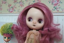 Custom Sofie Bell Takara Middie Blythe doll. Lilac hair and eyelashes.