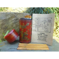 Divination Chinese Old Prediction Fortune Wood Sticks in Red Dragon Phoenix Box