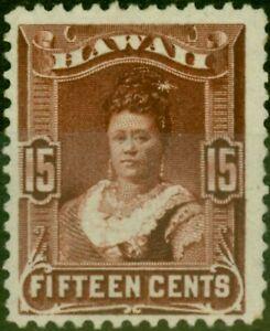 Hawaii 1882 15c Red-Brown SG48 Fine Unused