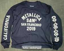 Metallica S&M2 San Francisco Vintage Large Long Sleeve Shirt Official Not Poster