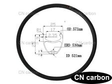 MTB bike rim 26er carbon rim Mountain bicycle rim 25mm widthx 25mm depth 340g