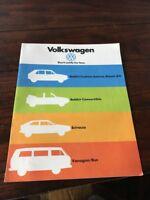Rare 1980 VW Volkswagen Rabbit Scirocco Vanagon Bus Vtg Brochure Scarce HTF