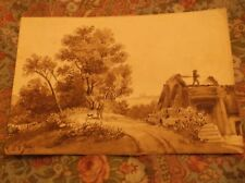 Landscape, France, Hunting, Dog, Bridge? Watercolor? Ink? Drawing, 1851