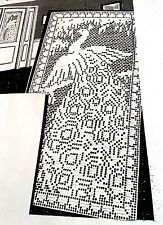 1987 Vintage 1939 LW FILET PEACOCK DOOR PANEL Pattern to Crochet (reproduction)