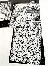 1987 Vintage 1939 LW FILET PEACOCK DOOR PANEL Pattern to Crochet (reproduction)