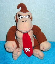 "NINTENDO 64 SUPER MARIO BROTHERS DONKEY KONG 7"" PLUSH BEAN BAG TOY 1997"