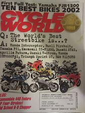 Cycle World Magazine July 2002 Yamaha FJR1300 10 Best Bikes of 2002 Cannondale