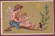 Chromo HUTINET - AU PRINTEMPS - 120613 - première chasse - ange chérubin