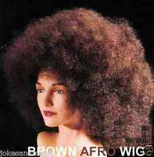 Brown  Deluxe Jmbo Afro Wig Costume Unisex halloween party dress up prop