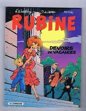 RUBINE 7. Devoirs de Vacances. WALTHERY - EO 2000. Neuf