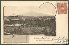 CATANIA CITTÀ 07 ETNA VILLA BELLINI Cartolina viaggiata 1901