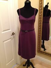 MICHAEL Michael Kors Womens Deep Purple Belted Sleeveless Dress, Size 8, NEW