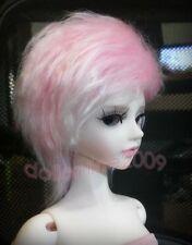 "YOSD 6~7"" Hair 1/6 BJD Wig baby dollfie Fur Wig rose pink AOD DOD DK DZ Luts AF"