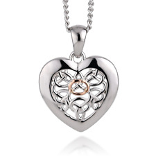 """Pendant Sterling Silver 22"""" Clogau 925 Heart Love Royalty Welsh Rose Gold"""