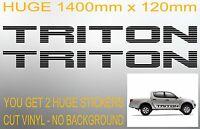 TRITON 4x4 Mn Mk Ute door panel tailgate Stickers HUGE 1400mm PAIR